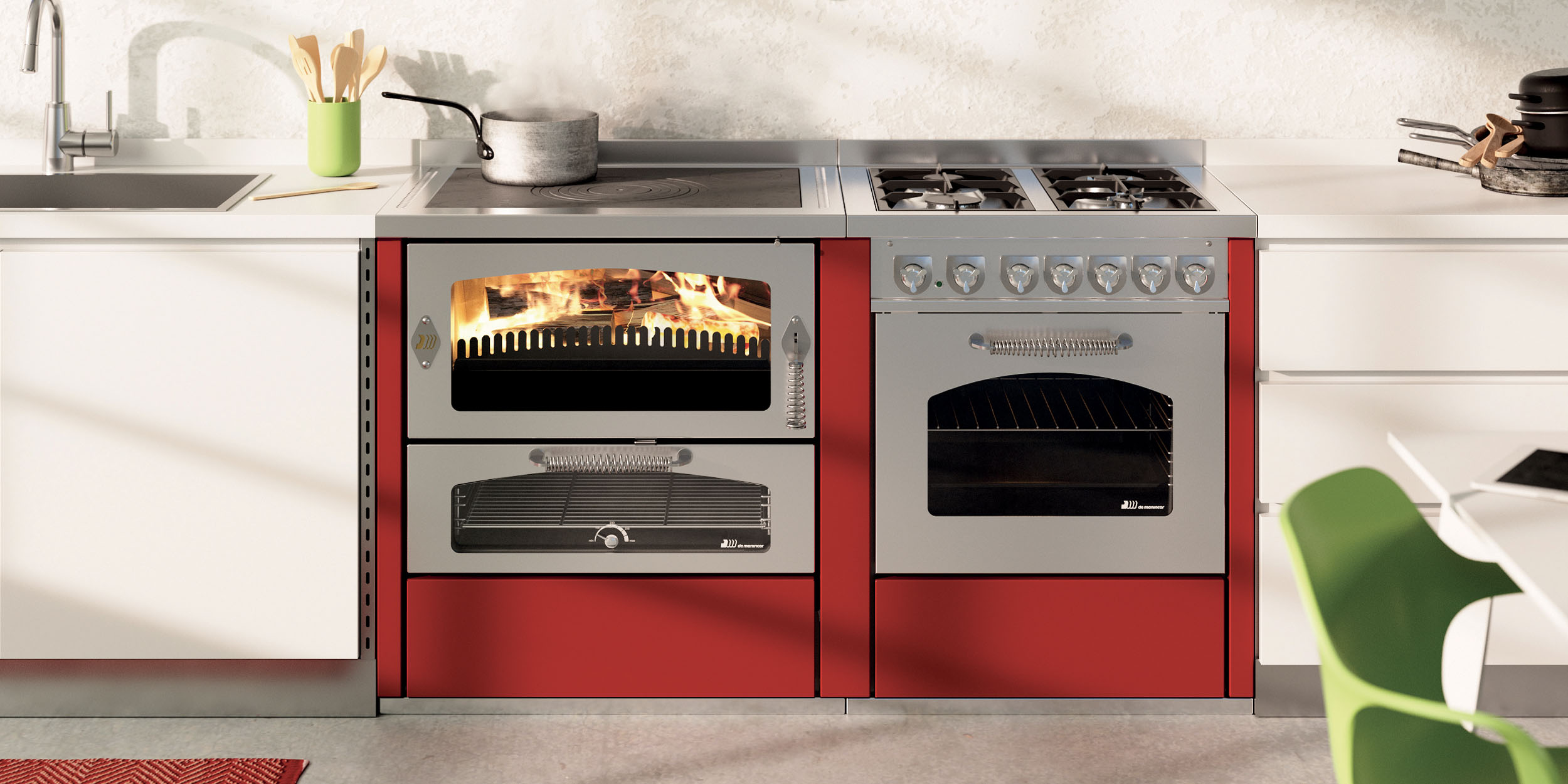 Cucine A Legna Moderne.Cucine A Legna Demanincor S P A